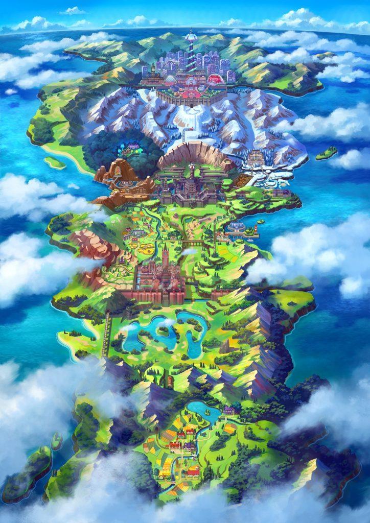 Pokemon Sword And Shield Region Map
