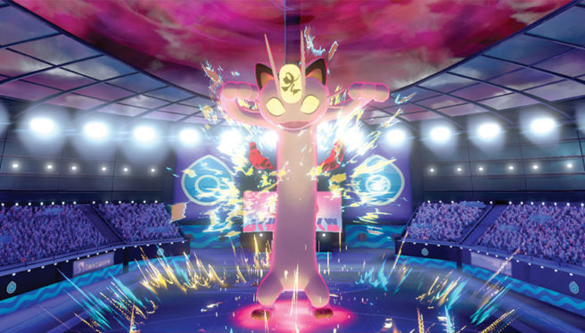 Pokemon Sword Shield Gigantamax Pikachu Eevee Charizard Meowth Butterfree Footage