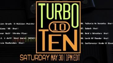 Retro Gaming Live TV's Turbo Ten Race